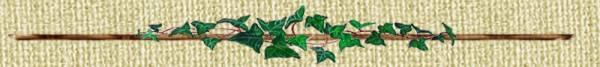 Divisorio Decorativo realizzato con edere silvestri su tralcio ligneo dipinto a mano