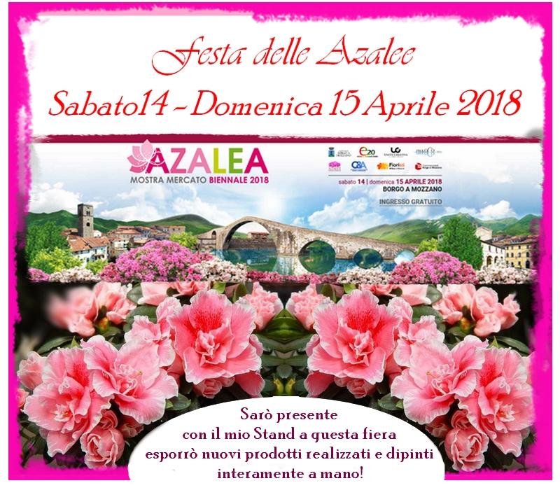 festa delle azalee 2018 - oggetti dipinti interamente a mano presso la fiera delle azalee a Borgo a Mozzano
