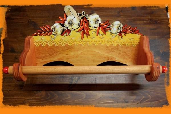 portascottex da appendere alla parete, con aglio e peperoncino